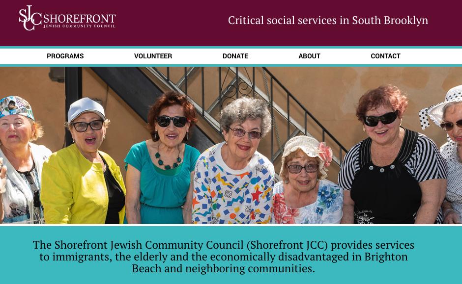 Shorefront JCC New Website